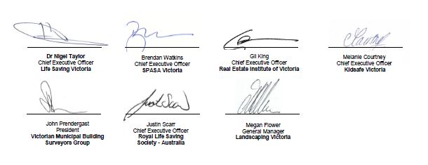 Stakeholder signatures
