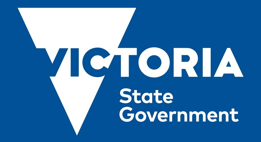 victorian state government logo blue