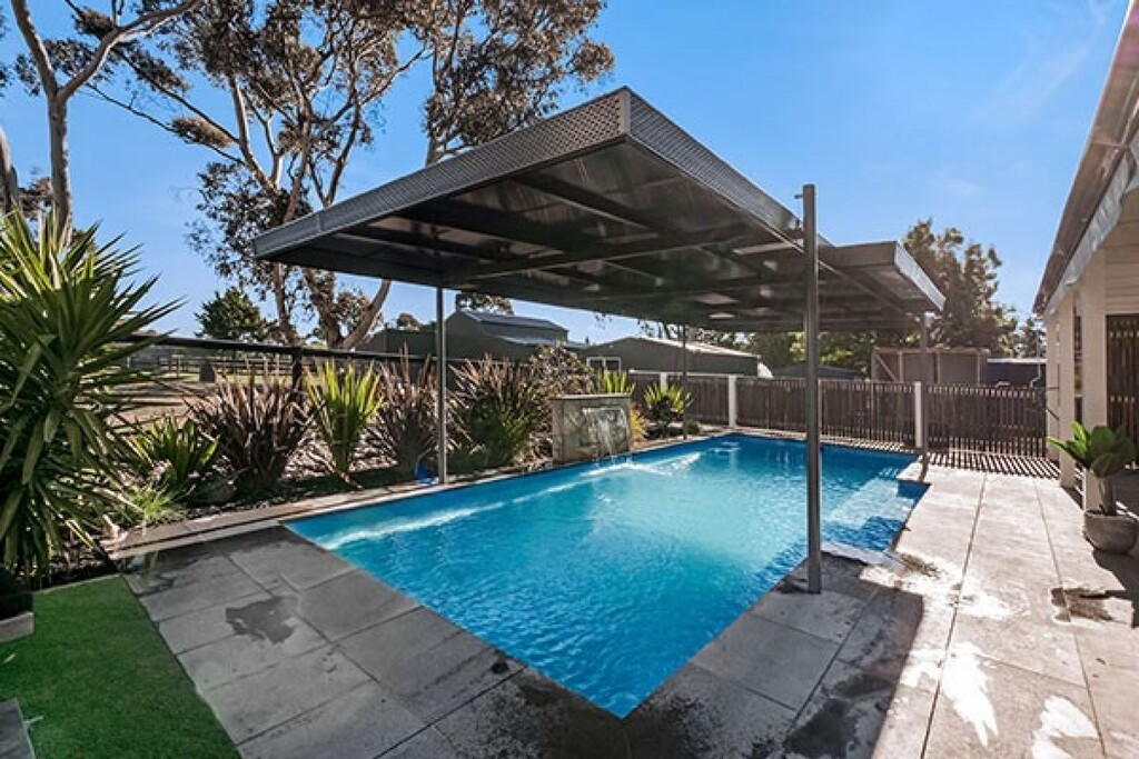 Maleco Pool Spas award winning multi purpose pool cover and shade system
